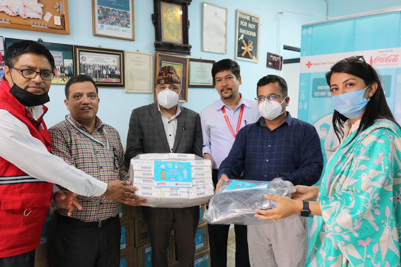 Nepal Red Cross Society handover COVID-19 PPE to Nepal Medical Association