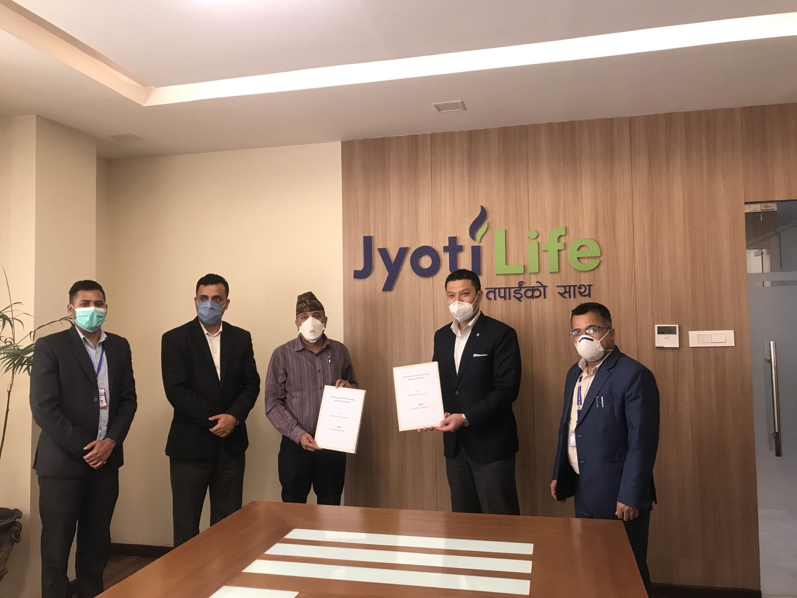 Agreement between Nepal Medical Association and JyotiLife Insurance Company