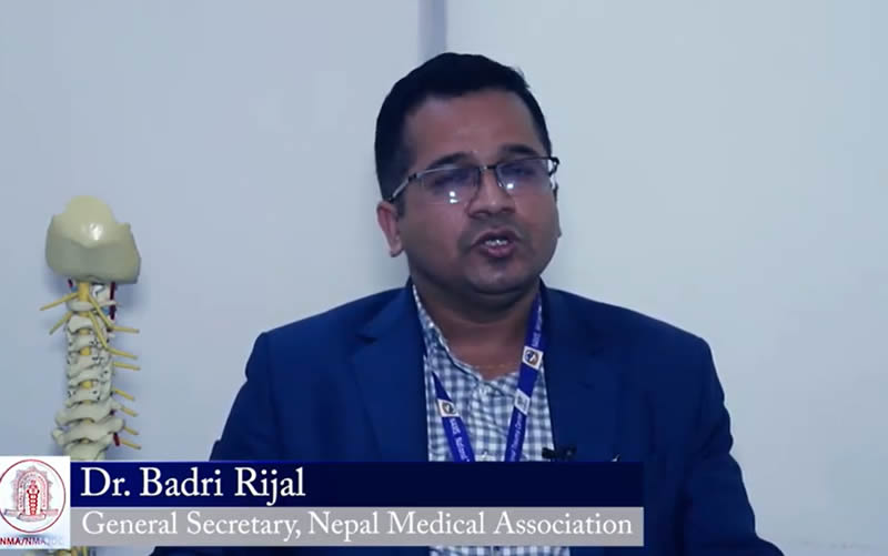 COVID-19 Messager from Dr Badri Rijal, GS, NMA